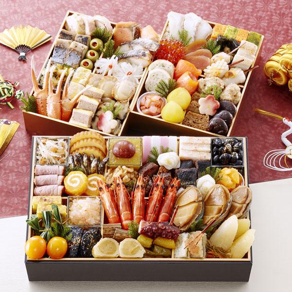 匠本舗:京都御所南 京料理「やまの」監修三箱二段重 珠天箱