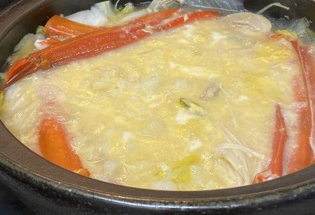 トゲズワイガニ食レポ トゲズワイガニでカニ雑炊
