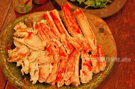 食レポ「タラバガニ」:皿に盛り付け