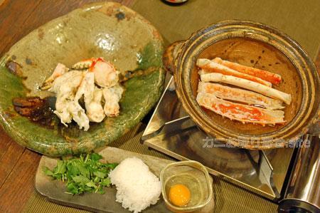 食レポ「タラバガニ」:雑炊準備